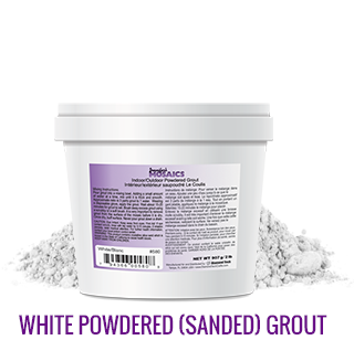 White Powdered (Sanded) Grout