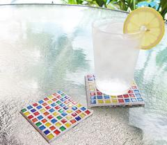 Cobblestones Tiles Brights Mosaic Coasters Free Project Guide