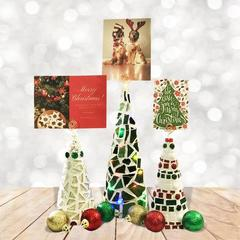 Elegant Mosaic Christmas Card Holder