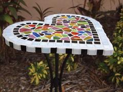 No Nip Mosaic Heart Table Project Guide