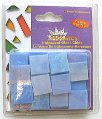 Iridized Glass Chips Blue   5 Oz Pack
