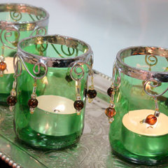 Beaded Votives