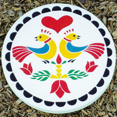 Love Birds Stepping Stone