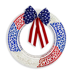 Patriotic Mosaic Wreath Project Guide