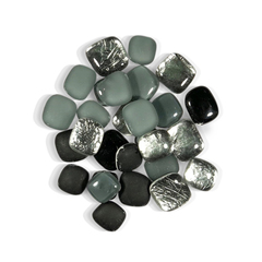 4 oz Black Silver Pebble Tile