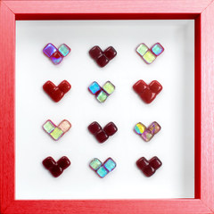 Valentines Day Framed Glass Wall Art