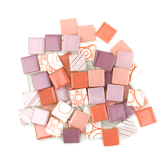 Pink & Coral Patchwork Tile Mix