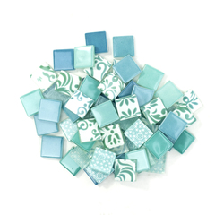 Lt. Blue & Teal Patchwork Tile Mix