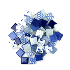 Royal & Ocean Blue Patchwork Tile Mix