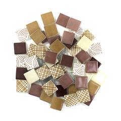 Maroon & Tan Patchwork Tile Mix