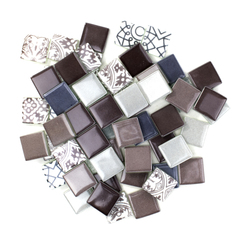 Heather Purple & Grey Patchwork Tile Mix