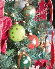 Colorful Copper Patterned Ornaments